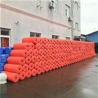 核電廠取水明渠攔污網浮漂聚乙烯浮筒安裝