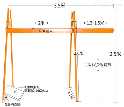 东弘直滑式电动葫芦小吊机