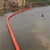 FT50*100大坝前柔性双悬链跨河浮筒式拦污排